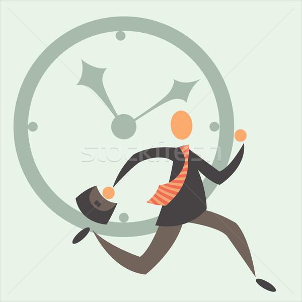 Noodzakelijk tijd zakenman tijd is geld business man Stockfoto © sabelskaya