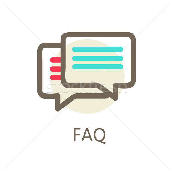 Icons for faq, support, contact. Stock photo © sabelskaya