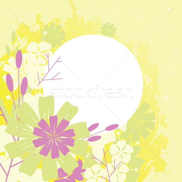 Frame ontwerp bloemen bloem bos blad Stockfoto © sabelskaya