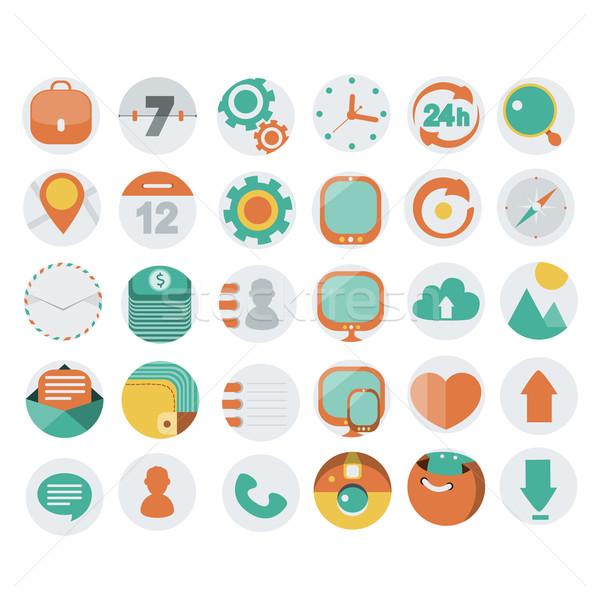 Aplicación iconos de la web diseno eps 10 negocios Foto stock © sabelskaya