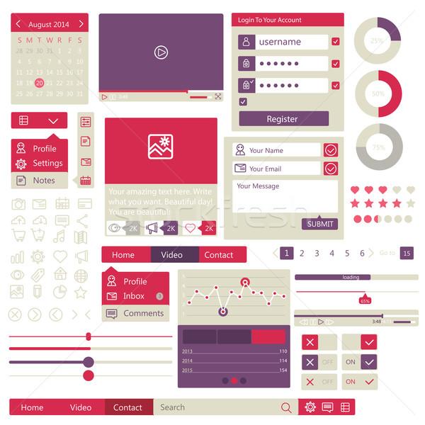 Usuário interface projeto elementos conjunto teia Foto stock © sabelskaya