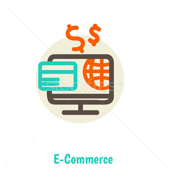 Stock photo: Flat design vector illustration concepts of online payment methods