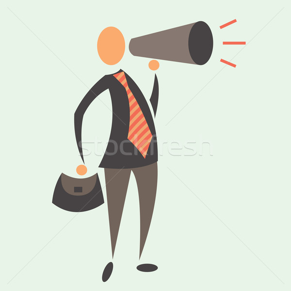 Business Man with Megaphone Stock photo © sabelskaya