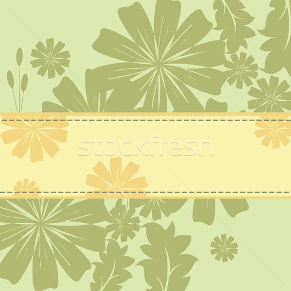 Lentebloemen frame voorjaar bos ontwerp blad Stockfoto © sabelskaya