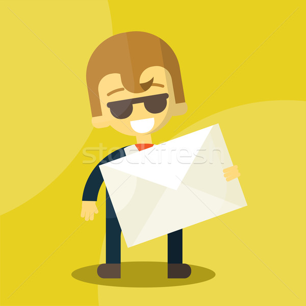 набор бизнесмен письме eps10 Сток-фото © sabelskaya