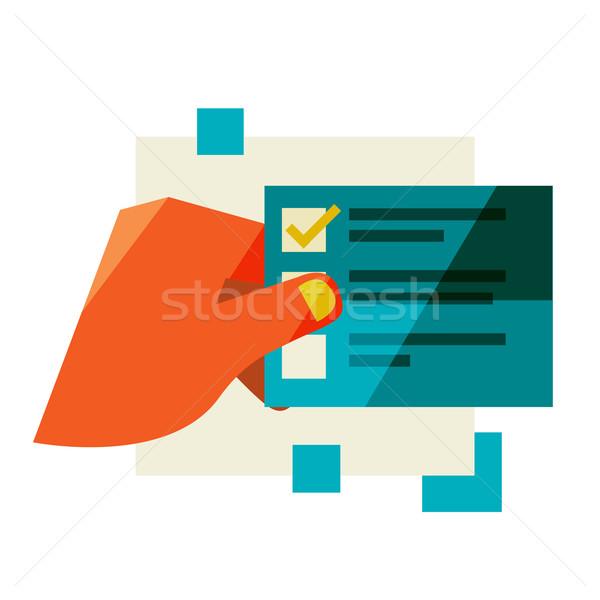 A man holds a list Stock photo © sabelskaya