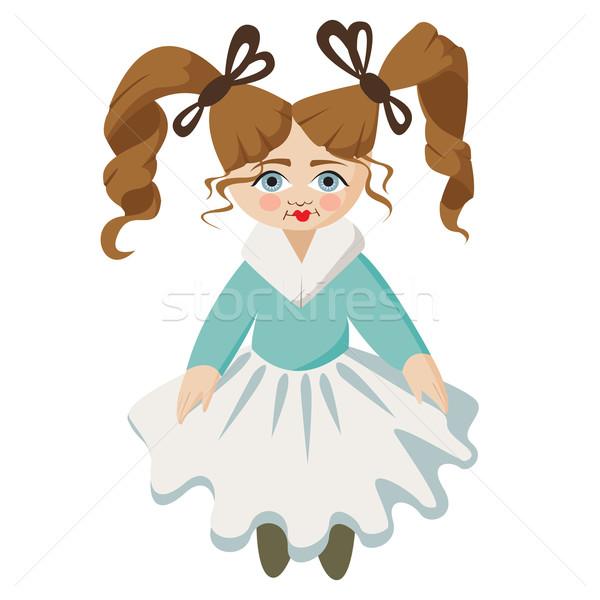 Cute gelukkig cartoon kid weinig meisje Stockfoto © sabelskaya