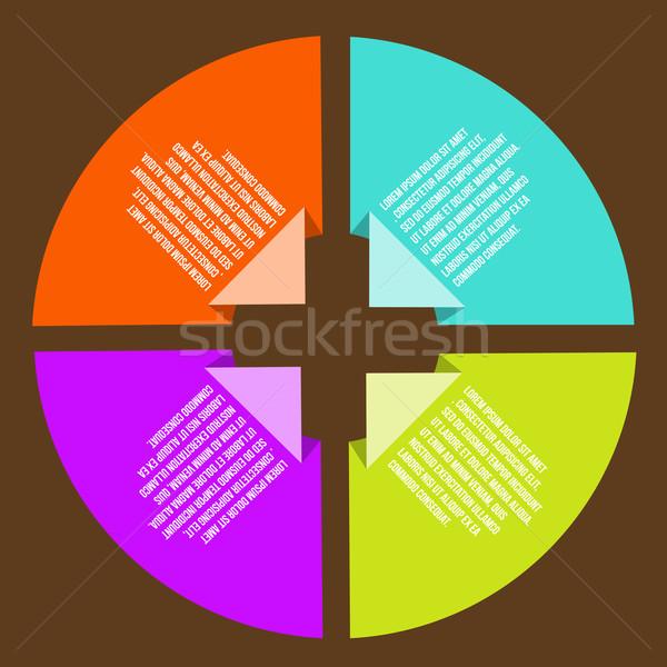 Cirkel iconen infographics gebouw abstract Stockfoto © sabelskaya