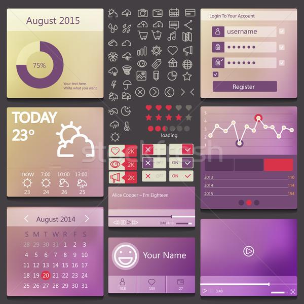 Set elements used for user interface Stock photo © sabelskaya