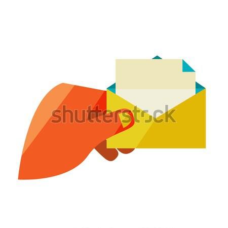 Man envelop brief ontwerp moderne Stockfoto © sabelskaya