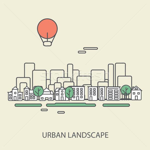 Linear urbano paisagem elegante moderno projeto Foto stock © sabelskaya