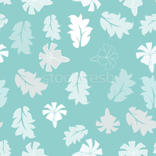 Flor azul flores abstrato folha verão Foto stock © sabelskaya
