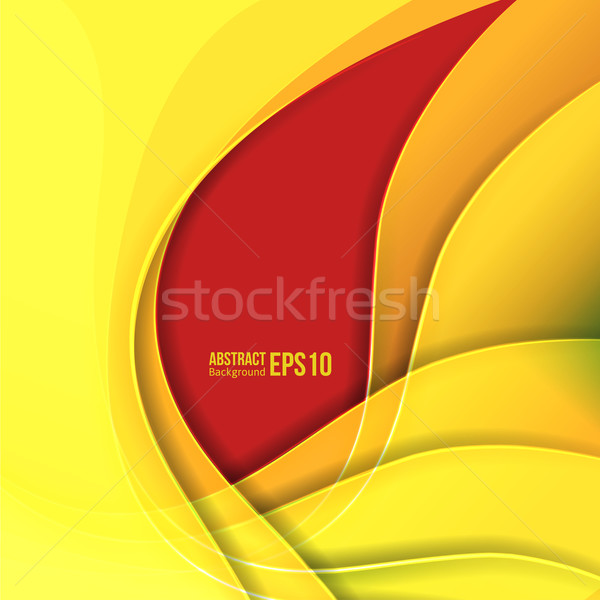 Abstract yellow light vector background. forms a smooth transition and waves. Stock photo © sabelskaya