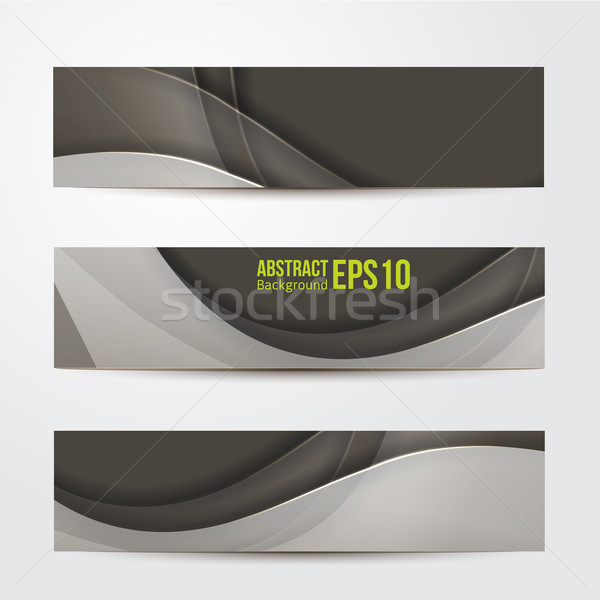 Ayarlamak soyut afişler gri üç iş Stok fotoğraf © sabelskaya