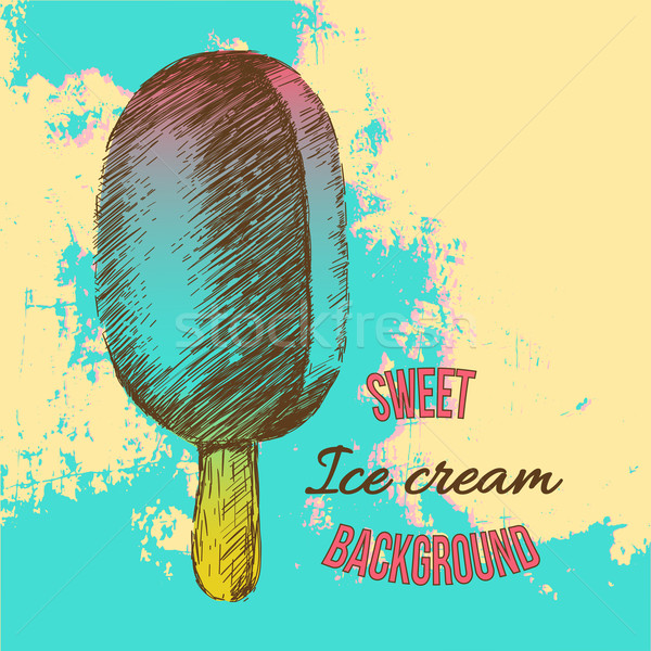 Vintage sweet ice cream Stock photo © sabelskaya