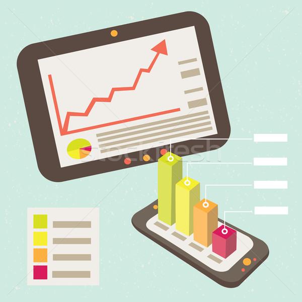 üzlet grafikus értesítés okostelefon jó eredmények Stock fotó © sabelskaya