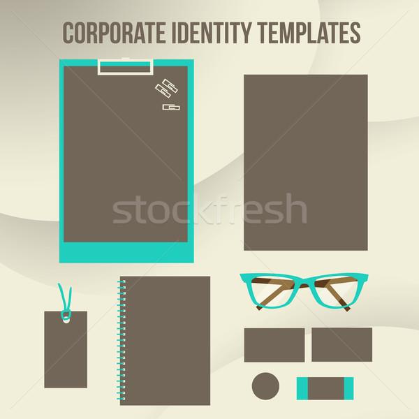 корпоративного личности дизайна современных иллюстрация Сток-фото © sabelskaya
