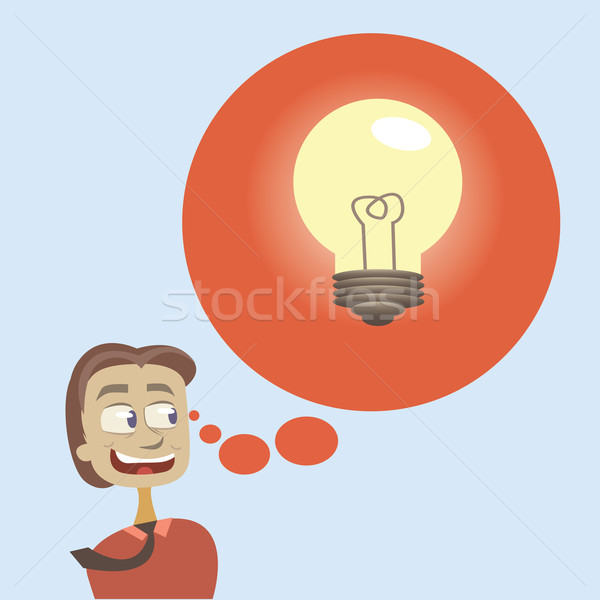 Thought bubble with big idea for business. Stock photo © sabelskaya