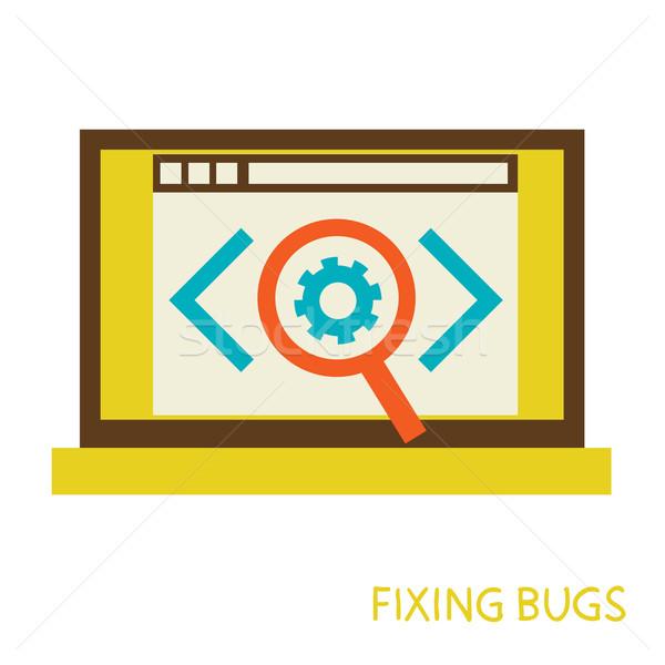 Procede bugs eps 10 business Stockfoto © sabelskaya