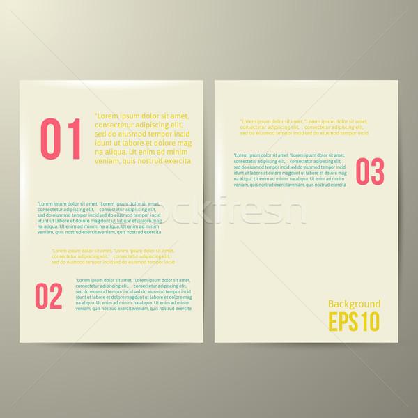 Design sablon fehér papír eps 10 terv Stock fotó © sabelskaya