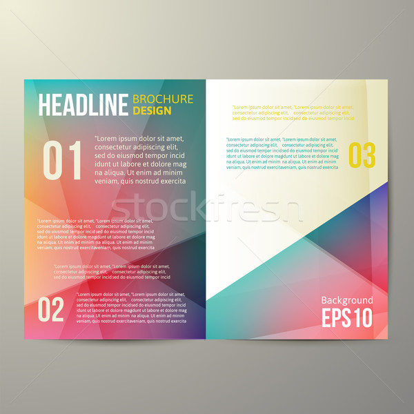 Brosúra sablon terv vektor üres színes Stock fotó © sabelskaya