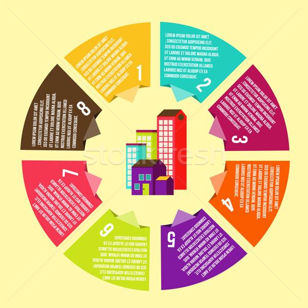 Círculo casa conceitos ícones infográficos vetor Foto stock © sabelskaya