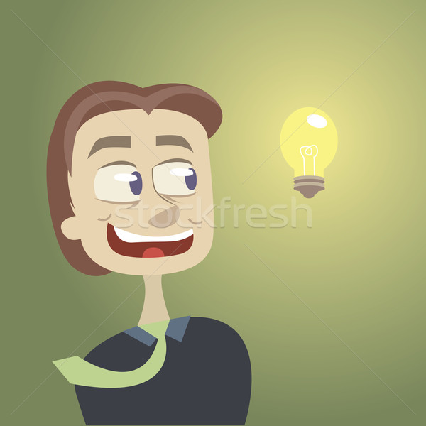 Groot idee business eps 10 glimlach Stockfoto © sabelskaya
