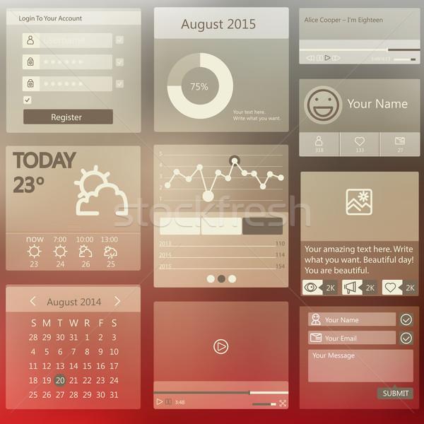 Szett elemek használt felhasználó interfész különböző Stock fotó © sabelskaya