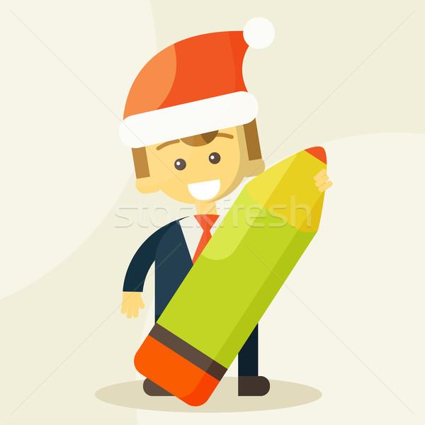 Empresário lápis natal seis grande Foto stock © sabelskaya