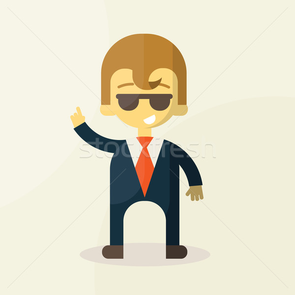 businessman says, taxing empty for text Stock photo © sabelskaya