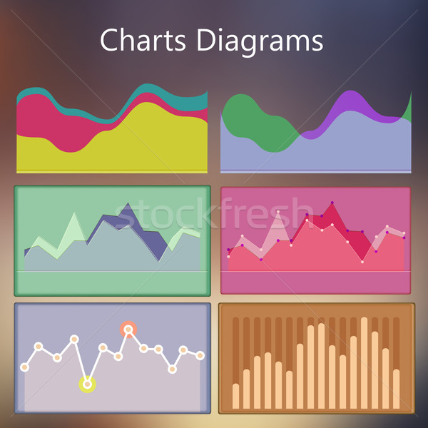 Ontwerp sjabloon charts diagrammen statistiek Stockfoto © sabelskaya