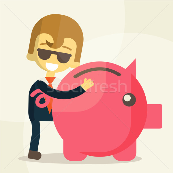 Homem de negócios eps10 vetor formato empresário Foto stock © sabelskaya