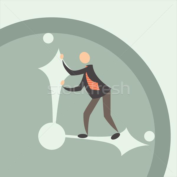 Stoppen tijd zakenman business werk lopen Stockfoto © sabelskaya