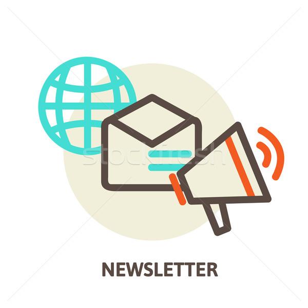 Vector e-mail marketing nieuwsbrief abonnement Stockfoto © sabelskaya