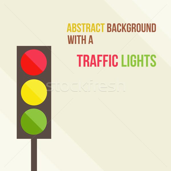 抽象的な 信号 スタイル 通り 道路 色 ストックフォト © sabelskaya