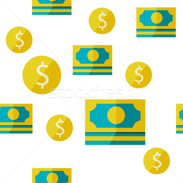 money seamless background Stock photo © sabelskaya