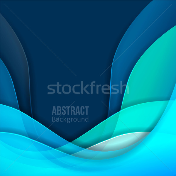 Abstract blue light vector background. forms a smooth transition and waves. Stock photo © sabelskaya