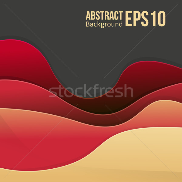 Abstract red light vector background. forms a smooth transition and waves. Stock photo © sabelskaya