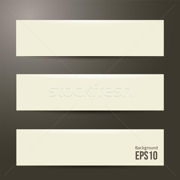 Zuiver witte ontwerp eps 10 business Stockfoto © sabelskaya