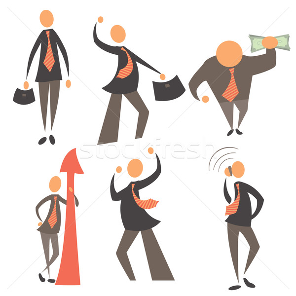 Сток-фото: набор · бизнесменов · изолированный · белый · различный · бизнеса
