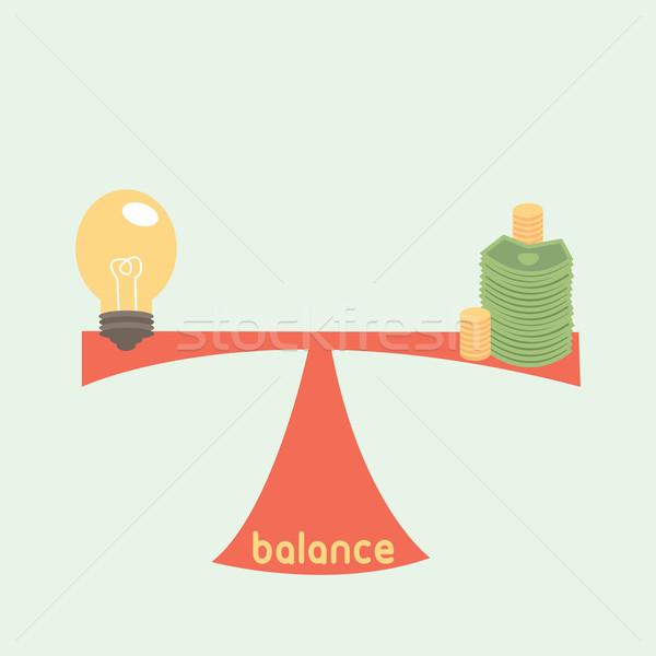 Equilibrio dinero idea negocios empresario hombres Foto stock © sabelskaya