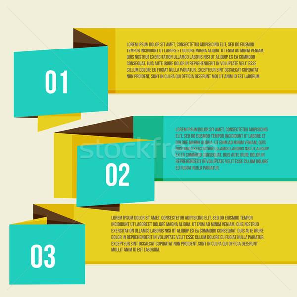 Moderna curva colorido plantilla de diseño banners pueden Foto stock © sabelskaya
