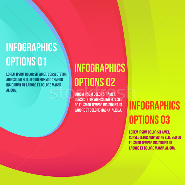 Infográficos colorido moderno negócio opções bandeira Foto stock © sabelskaya