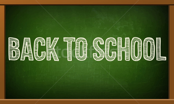 Groene boord tekst voorraad vector terug naar school Stockfoto © sabelskaya