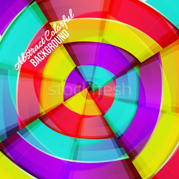 аннотация красочный радуга кривая дизайна свет Сток-фото © sabelskaya