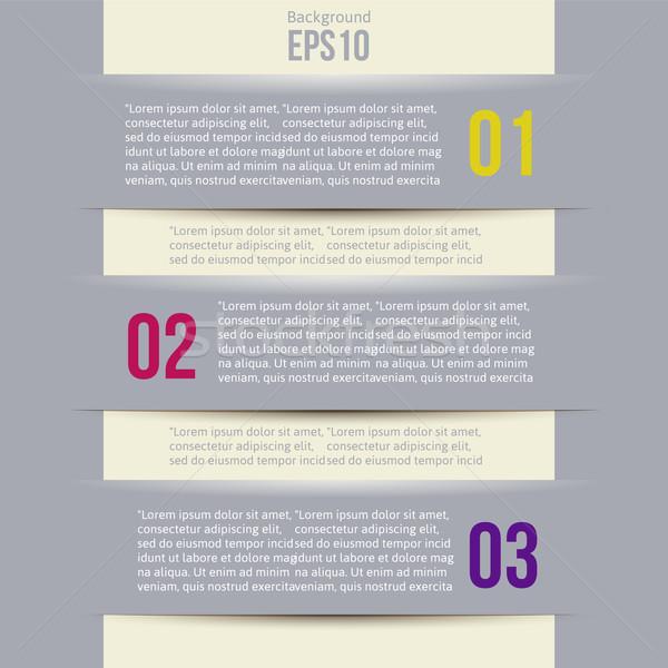 Modern Design style infographic template layout Stock photo © sabelskaya