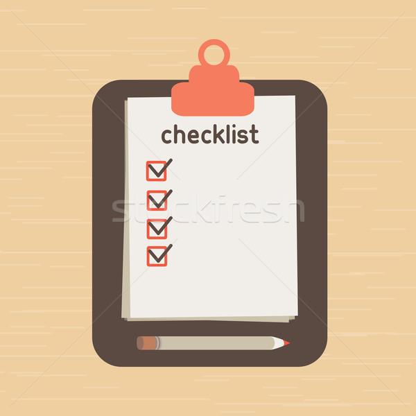 Lista lista necessário papel folha informação Foto stock © sabelskaya