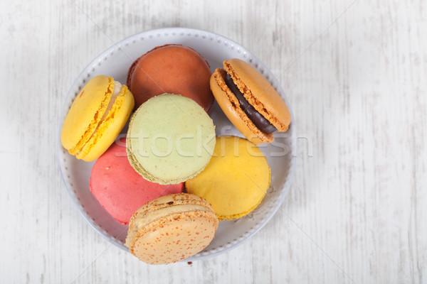 Zdjęcia stock: Francuski · macarons · kolorowy · typowy