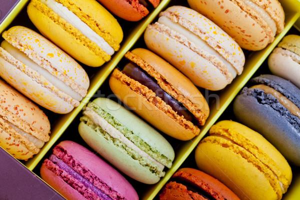французский macarons красочный типичный Сток-фото © sabinoparente