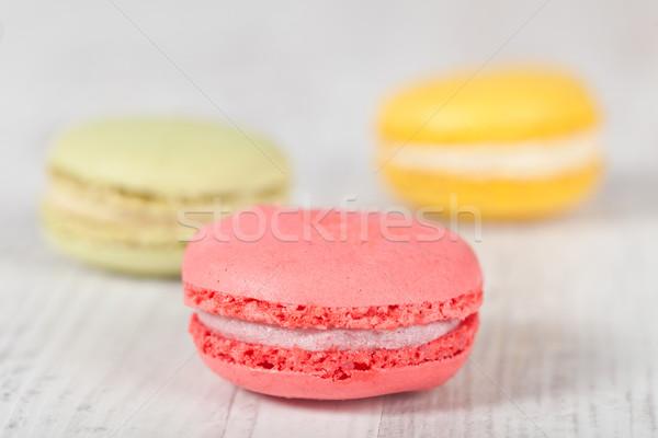 Francuski macarons kolorowy typowy Zdjęcia stock © sabinoparente